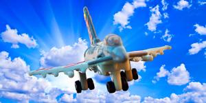 Самолёт-истребитель.  Открываем игрушки для мальчиков.